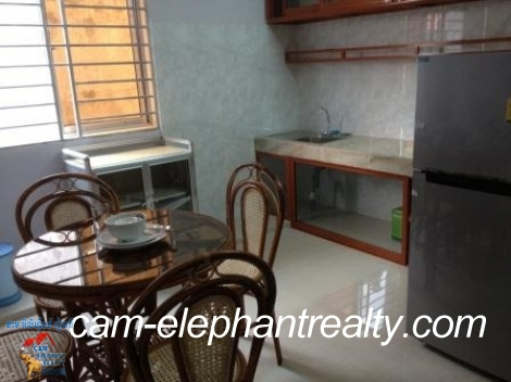 Free Cleaning,Wifi,Apartment in Tuol Kork for Rent,1BR=$420