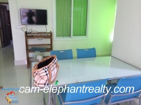 Fully Furnished Apartment South of Russian Market for Rent,2BR=$320