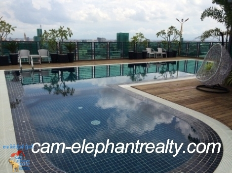 Brand New Pool Gym Apartment in BKK3 for Rent,1BR=$600