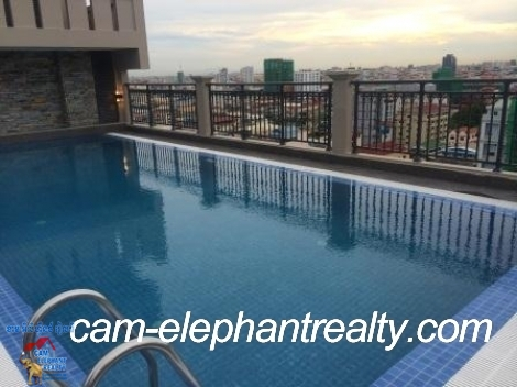 Roof Top Pool&Gym Apt near Russian Market for Rent,3BR=$1500