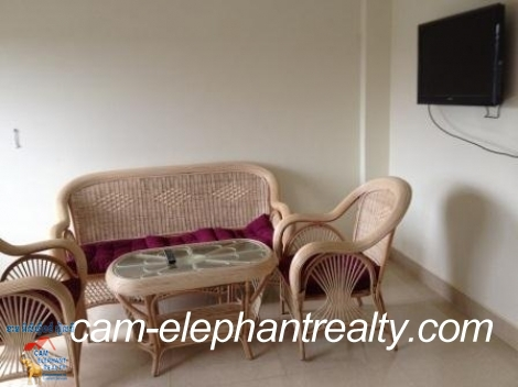 Nice Fully Furnished Apt in Tuol Kork for Rent,1BR=$250