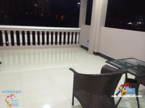 Huge Terrace,Brand New Apartment in BKK2 for Rent,1BR=$280