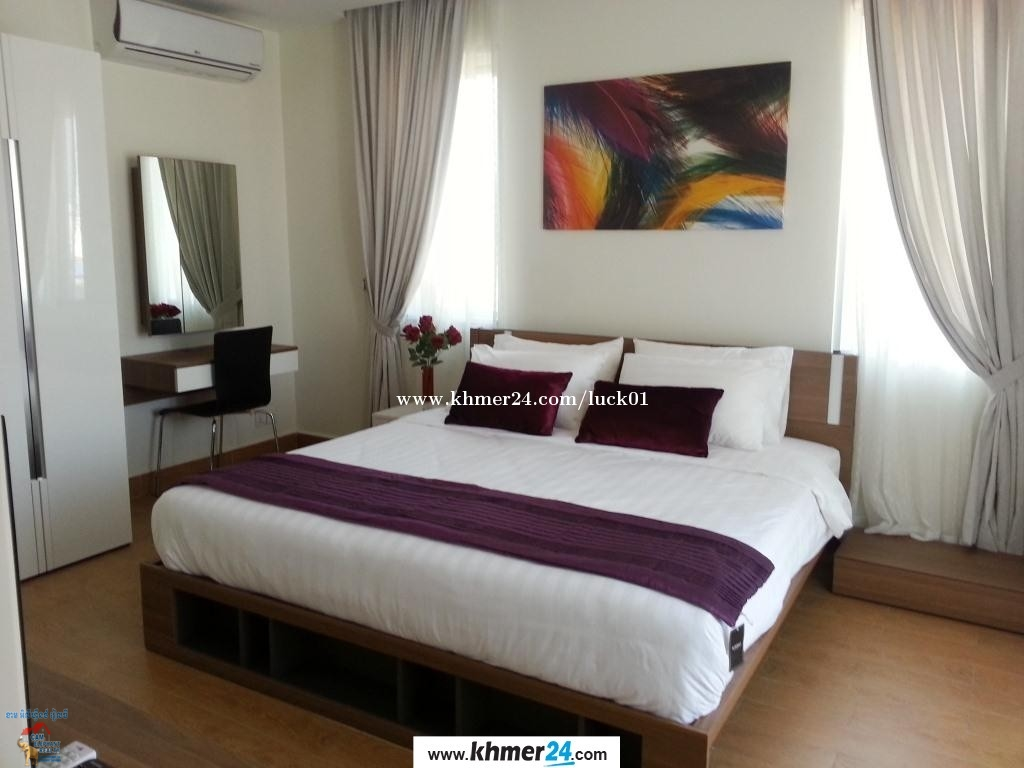Gym Serviced Apartment 1Bed Unit $500/month Boeng Trabek