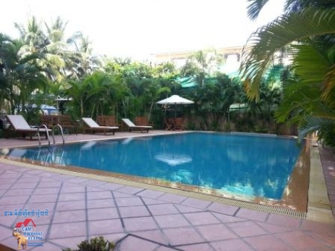 1 bedroom,Gym Pool Western Service Apartment For Rent,Tuol Kork