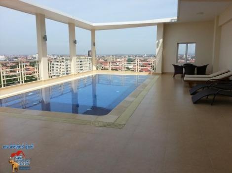 Rooftop Service Apartment 1-2beds Unit $650-850/month Toul kork