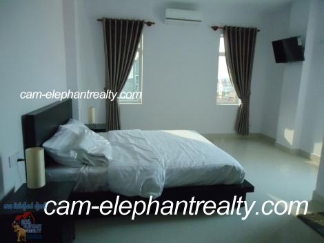 New Gym Service apartment 1Bed Unit $400-450/month near Sovanna Mall st 271