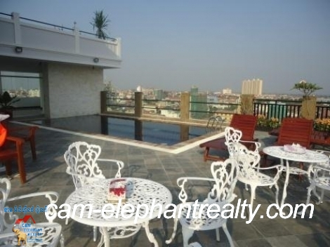 Rooftop Pool Service Apartment 1Bed Unit $700-750/month Near Mao Tsetong and Monivong Blvd