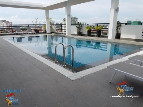 Brand New Modern Pool Serviced Apartment 1bed Unit $800/month Toul Kork
