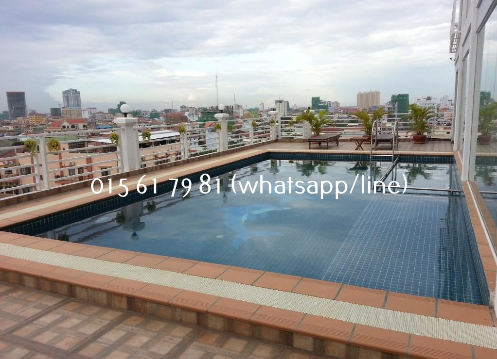 Rooftop Pool Serviced Apartment 1bedroom $550/month Russian Market