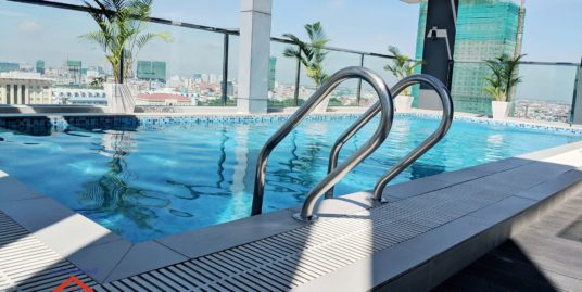 New Pool Western Apartment for Rent  (Near Wat Phnom Area)