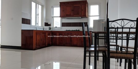 Western Furnished Apartment 1Bedroom *elevator near City Mall Olympic areat big balcony BKK2