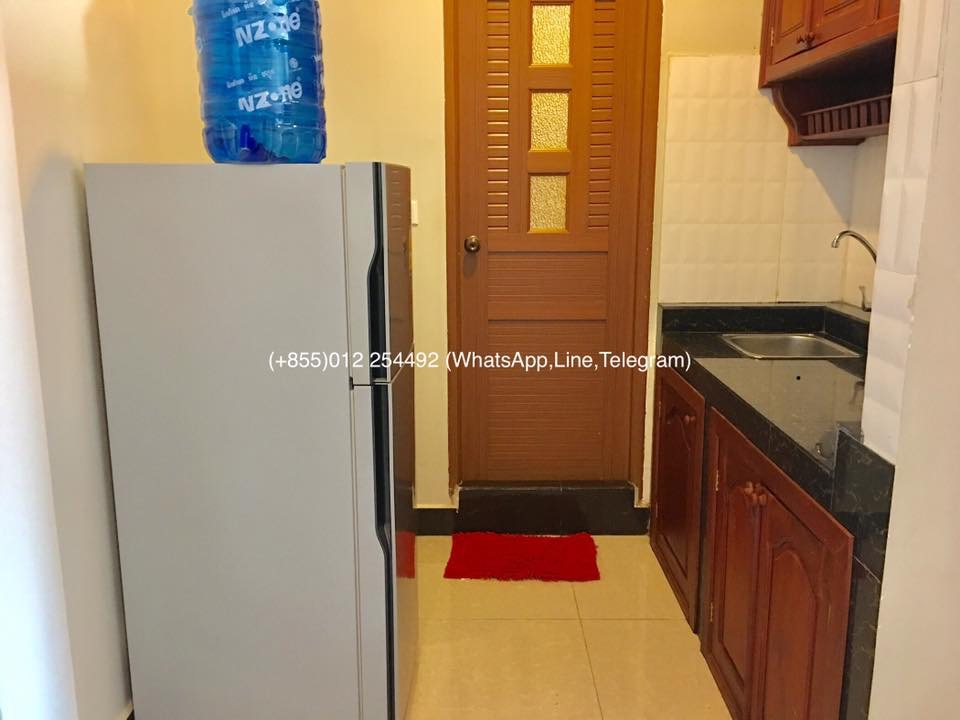 1 Bed 1 Bath Fully Furnished Apartment For Rent In Phnom Penh,Boeng Tompun