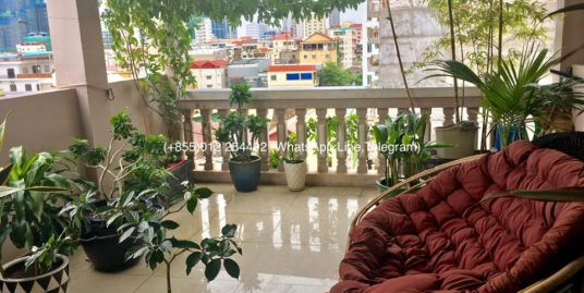 1 Bed 1 Bath Big Balcony Furnished Apartment for Rent,BKK2