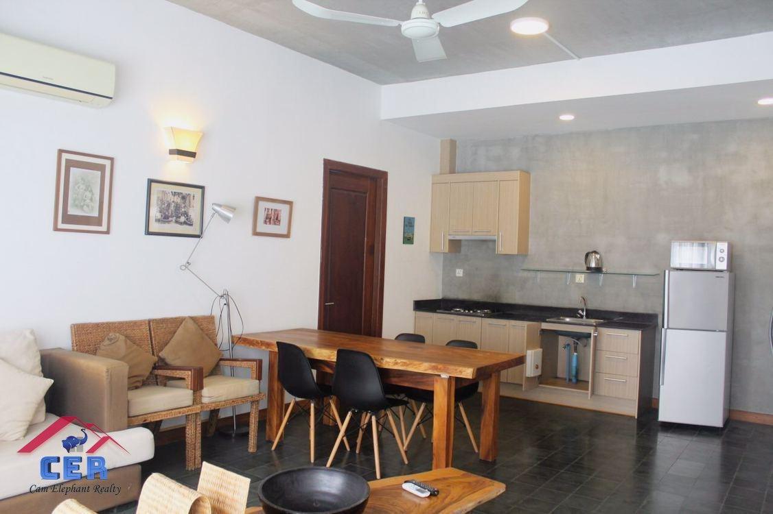 Western Apartment for Rent near Naga World (2 Bedrooms; BKK1)