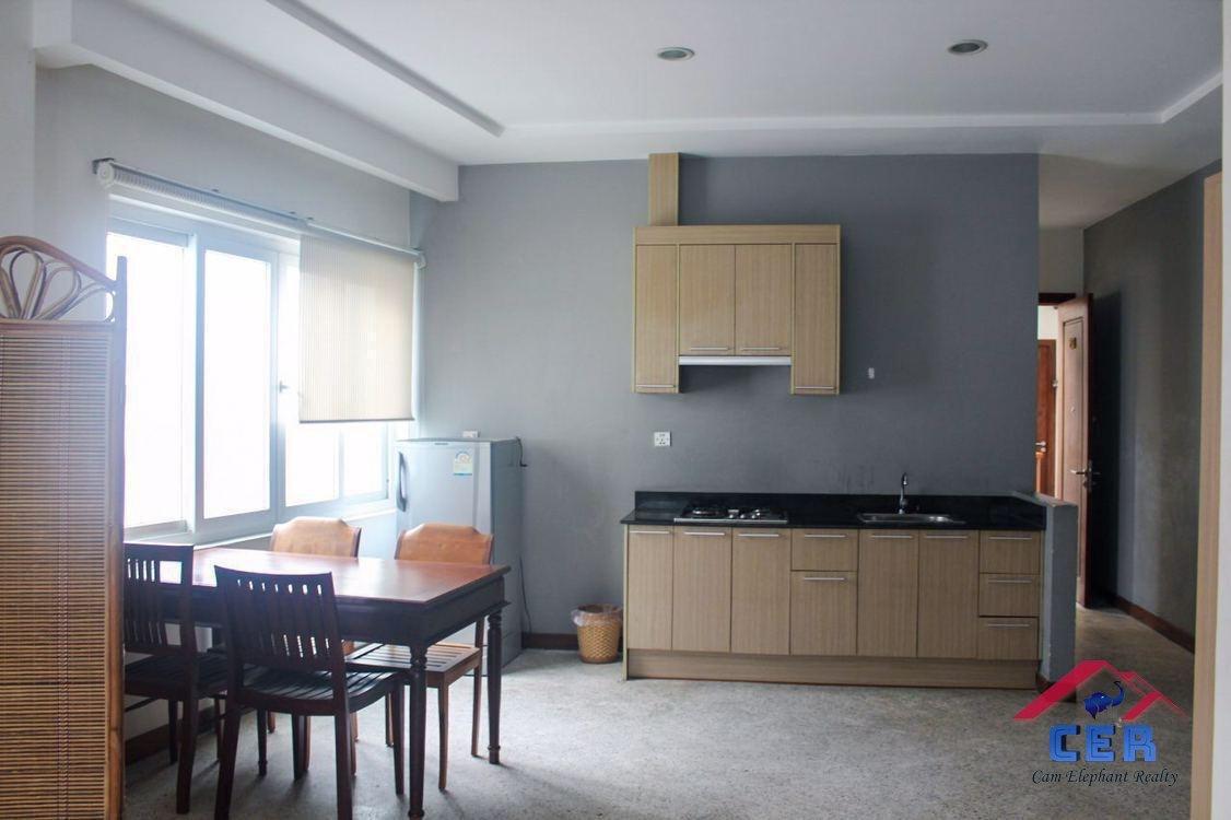 Western Apartment for Rent near Naga World (1Bedroom; BKK1)