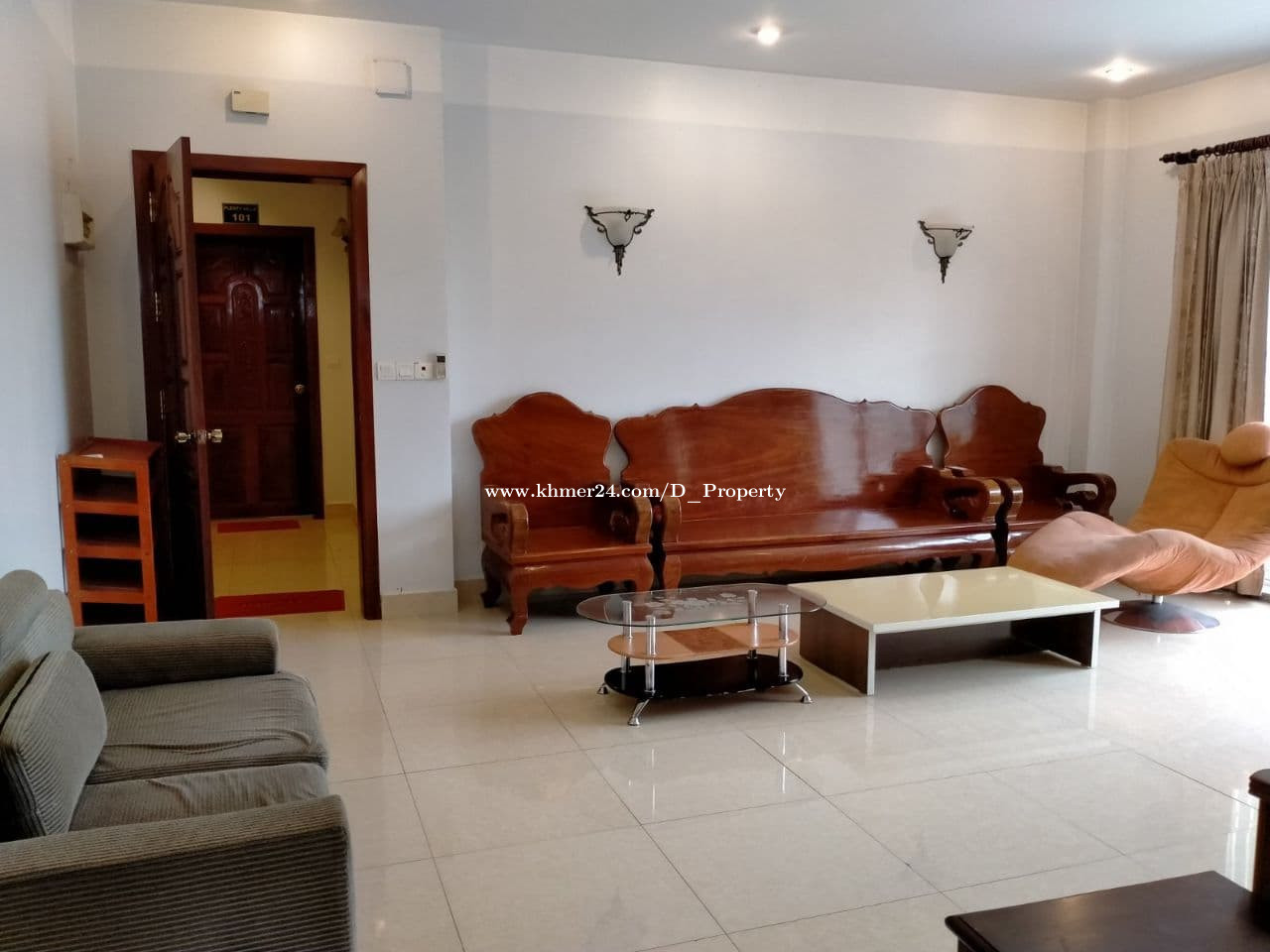 Western Apartment for Rent (2 Bedroom: Toul Tompong area)