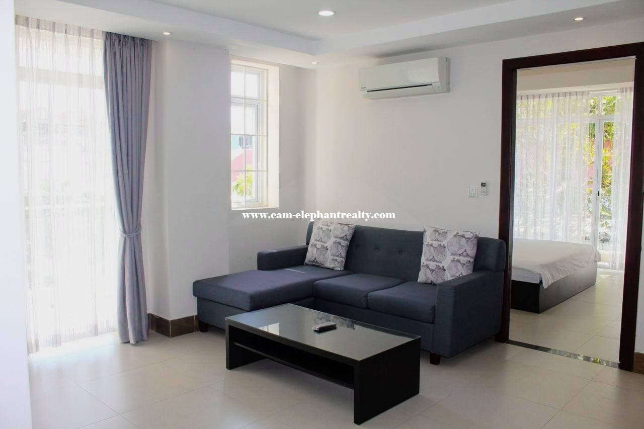 Western Apartment for Rent (1 Bedroom; BKK2 area)