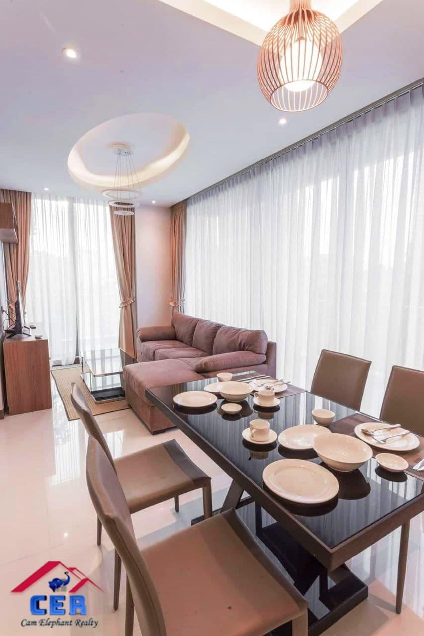 Modern & Luxury Apartment for Rent (2 Bedroom; Toul Kork area)